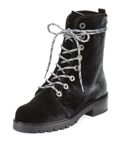 Metermaid Velvet Combat Boot