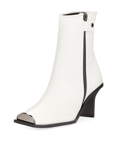 Stella McCartney Square-Toe Ankle Bootie