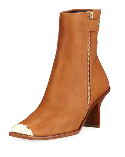 Square-Toe Ankle Bootie