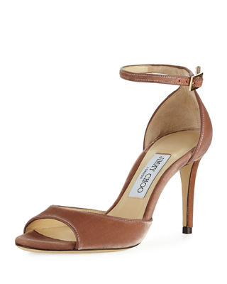 Jimmy Choo Annie Velvet 85mm City Sandal