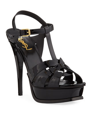 Saint Laurent Tribute Patent Platform Sandals