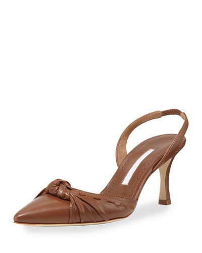 Lazine Knotted Leather Halter Pump