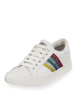 Marc Jacobs Empire Embellished Leather Low-Top Sneaker