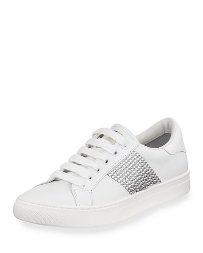 Empire Embellished Leather Low-Top Sneaker