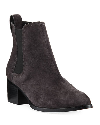 Walker Suede Block-Heel Chelsea Boot