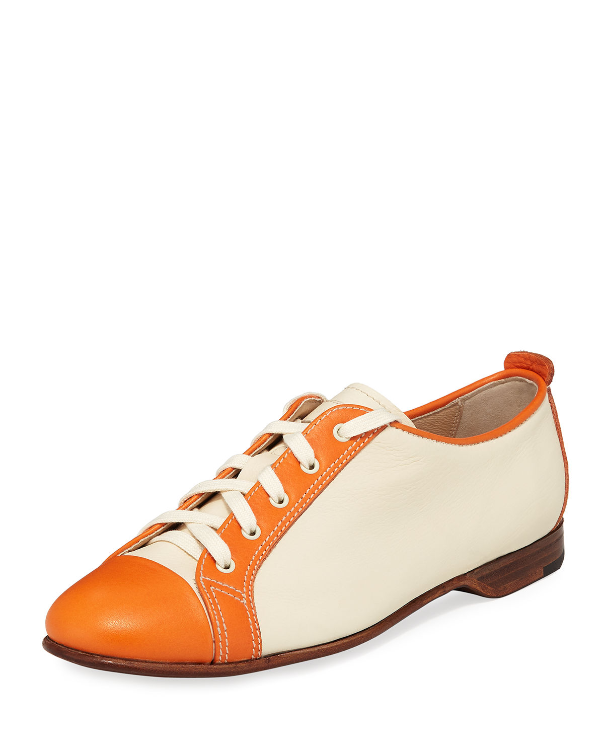 Colorblock Smooth Leather Sneaker