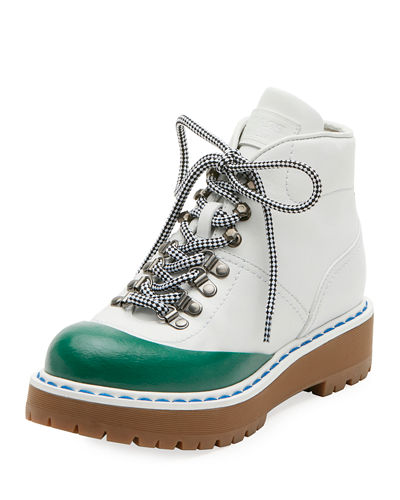 Lace-Up Leather Hiking Boot