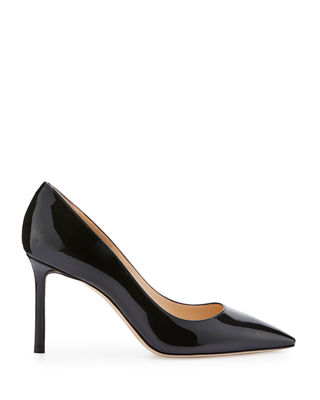Image 2 of 3: Romy Patent Pointed-Toe 85mm Pump
