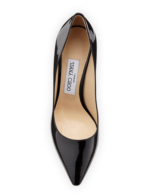 Image 3 of 3: Romy Patent Pointed-Toe 85mm Pump