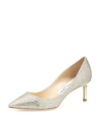 Jimmy Choo Romy Glitter Pointed-Toe 60mm Pump