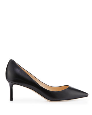 Image 2 of 3: Romy Leather Pointed-Toe 60mm Pump