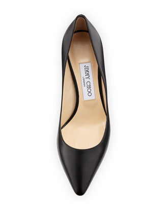 Image 3 of 3: Romy Leather Pointed-Toe 60mm Pump