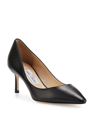 Image 1 of 3: Romy Leather Pointed-Toe 60mm Pump
