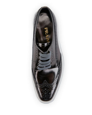 Image 3 of 3: Leather Microsole Lace-Up