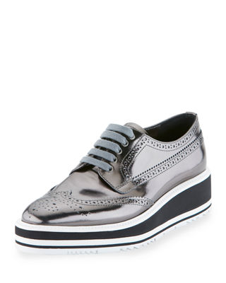 Image 1 of 3: Leather Microsole Lace-Up