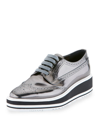 Prada Leather Microsole Lace-Up