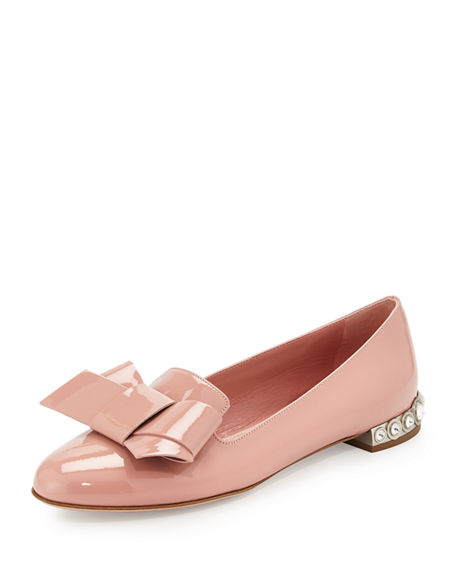 Miu Miu Printed Bow Flats Cheap Manchester Great Sale Discounts For Sale 6hDdH