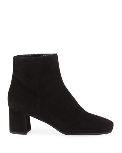 Suede 55mm Block-Heel Boot