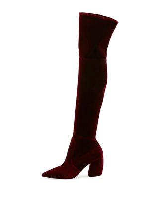 Image 1 of 4: Stretch Over-The-Knee Boot
