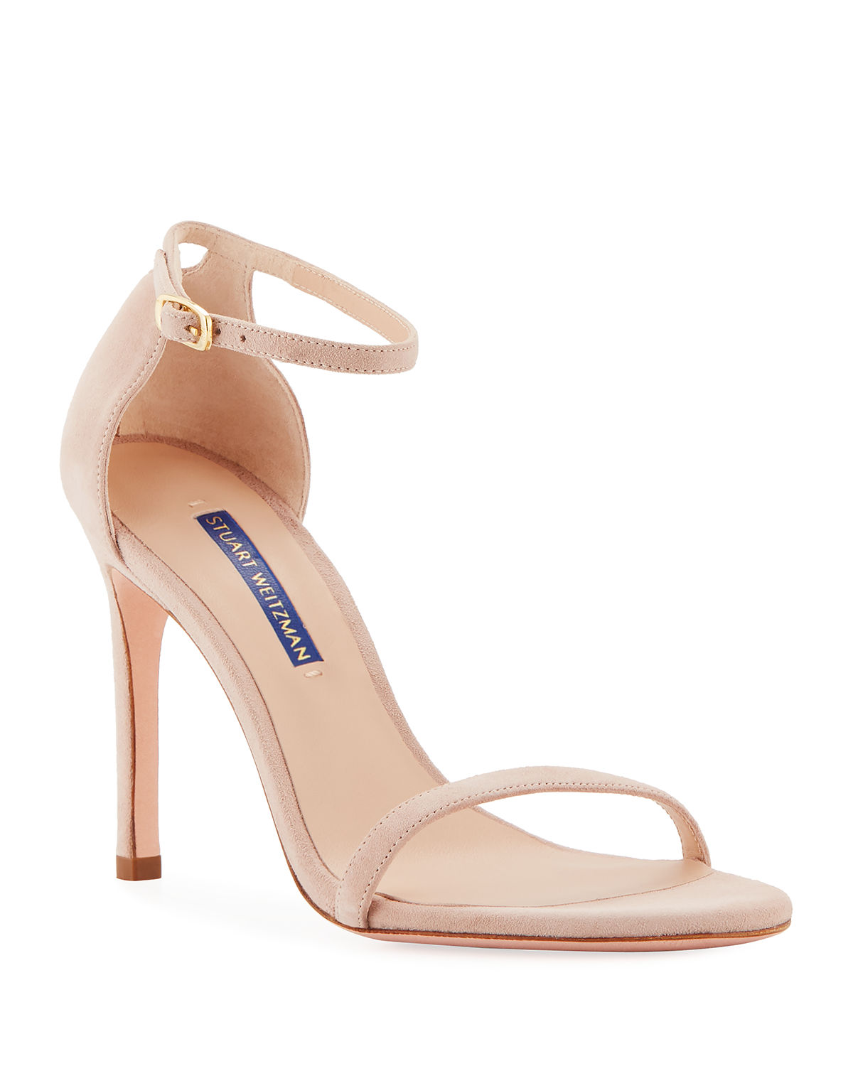d0a9882ffb33 Stuart Weitzman Nudistsong Suede Ankle-Wrap Sandals