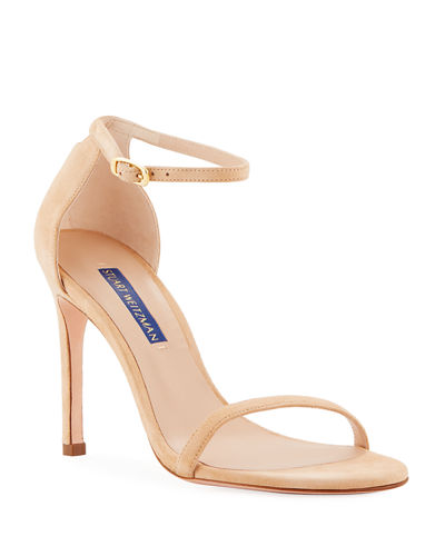 Nudistsong Suede Ankle-Wrap Sandals