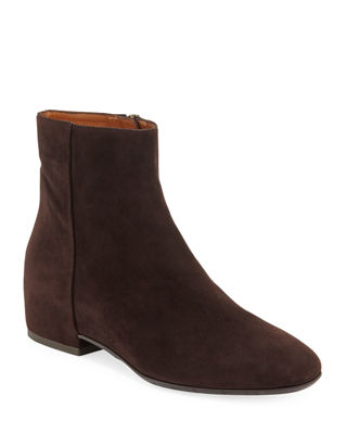 Ulyssa Waterproof Suede Ankle Boots With Hidden Wedge in Espresso