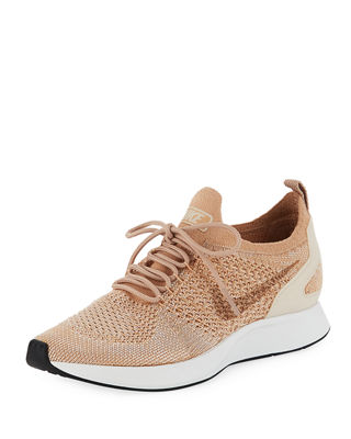 Women'S Air Zoom Mariah Fk Racer Knit Lace Up Sneakers, Bio Beige/ Guava Ice