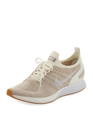 Women'S Air Zoom Mariah Fk Racer Knit Lace Up Sneakers, Sail White Sand
