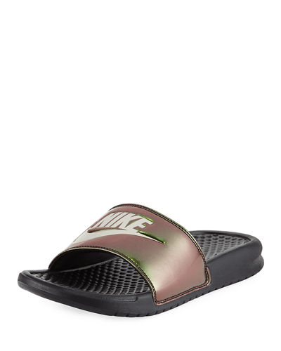 Benassi Just Do It Flat Slide Sandal