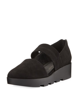 Eileen Fisher Marlow Suede Wedge Pump