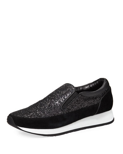 Donald J Pliner Ronie Special Glitter Two-Tone Sneaker