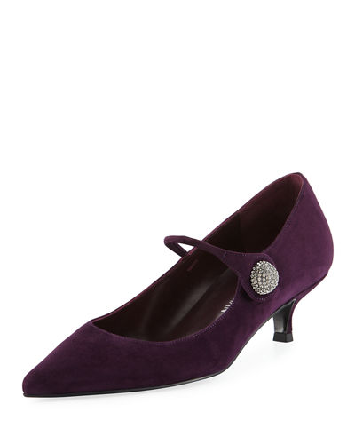 Stuart Weitzman Playball Suede Mary Jane Pump