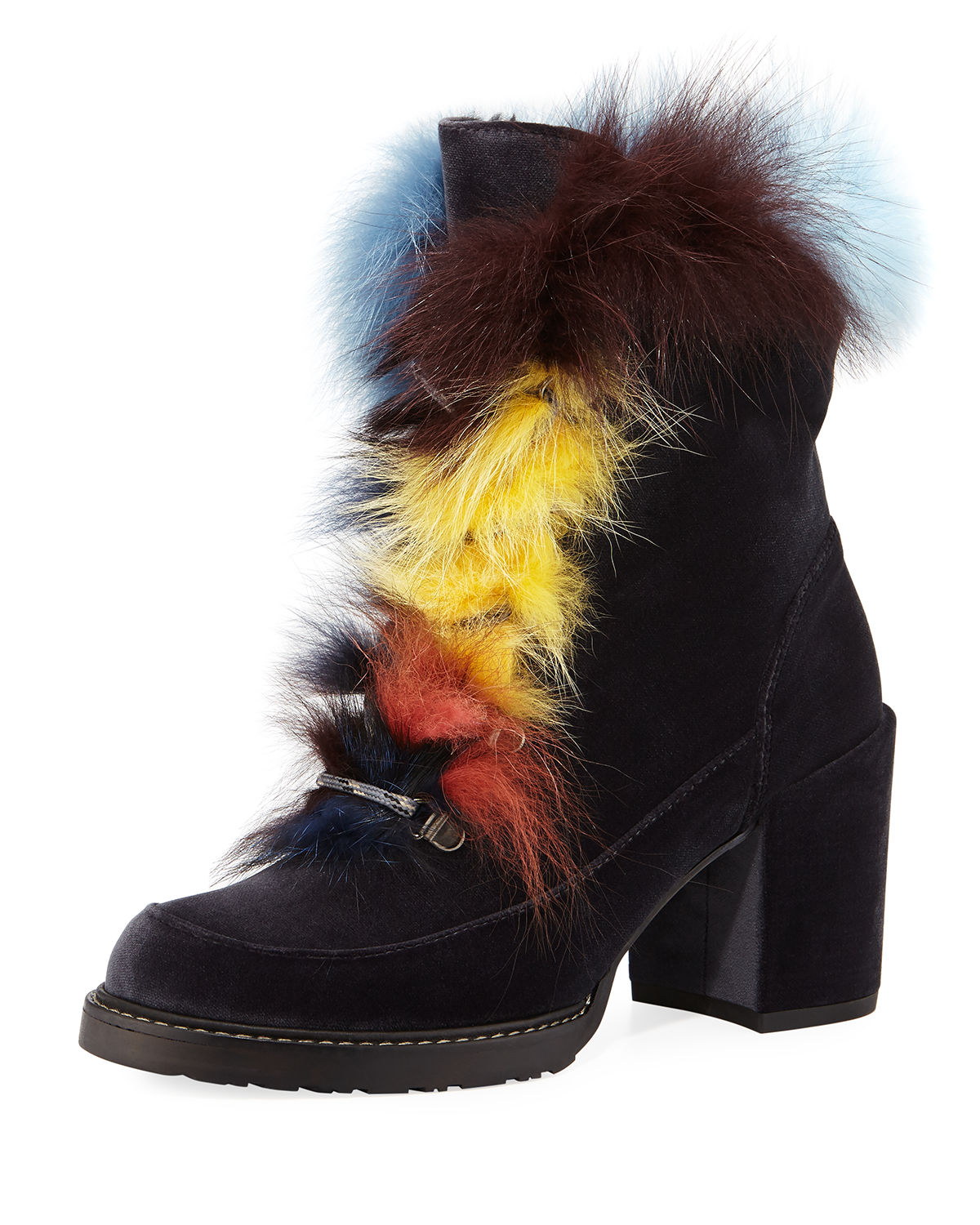Yukon Fur-Trim Velvet Hiker Boot