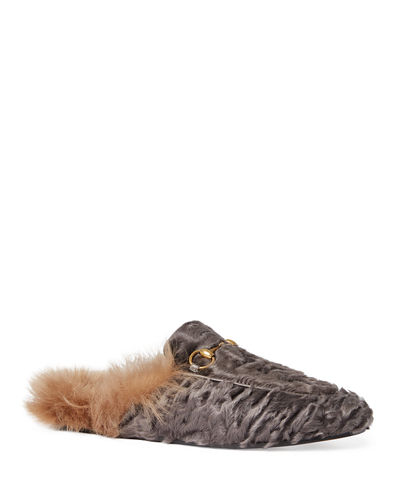 Princetown Shearling Fur Loafer Mule