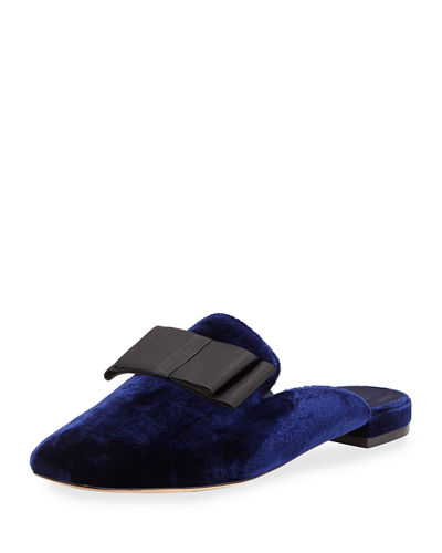 Joie Jean Velvet Mule with Grosgrain Bow