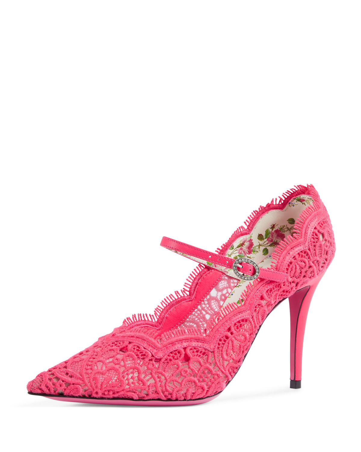 Virginia Fluorescent Lace Mary Jane Pump