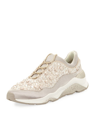 Ash Muse Beaded Crystal Sneaker