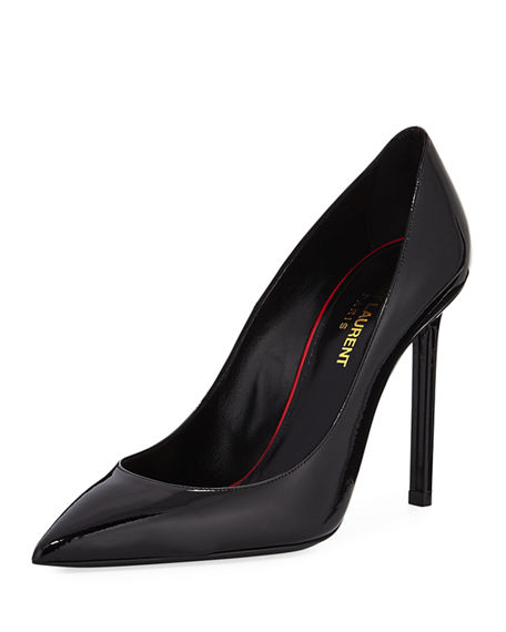 Anja contrast pumps - Black Saint Laurent f8NfTNQ8B