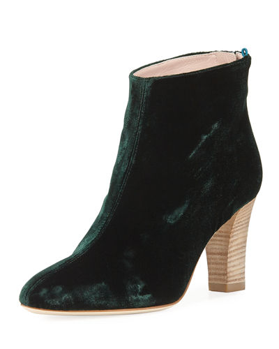 Minnie Velvet 75mm Ankle Bootie