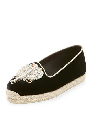 Image 1 of 2: Noemie Playa Velvet Red Sole Espadrille