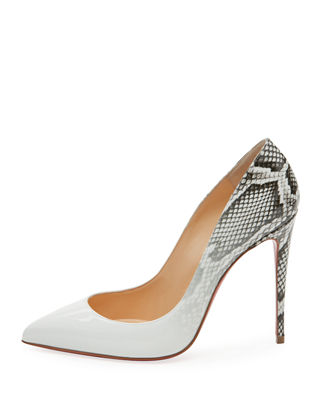 Christian Louboutin Pigalle Follies Ombre Snake-Print Red Sole