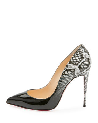 Image 2 of 2: Pigalle Follies Ombre Snake-Print Red Sole Pump