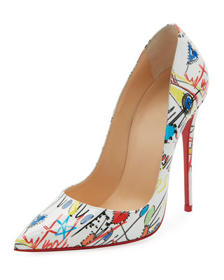 Christian Louboutin Glitter Pointed-Toe Pumps w/ Tags
