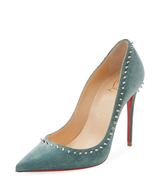 Anjalina Spiked Suede Red Sole Pump