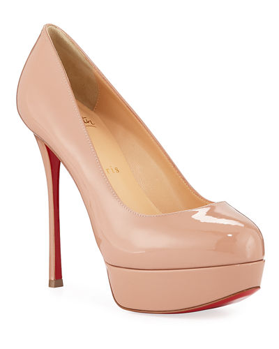 Dirditta Patent Platform Red Sole Pump