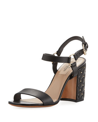 Image 1 of 4: Rockstud Quilted City Sandal