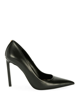 Image 2 of 3: Pointed-Toe 105mm Leather Pump