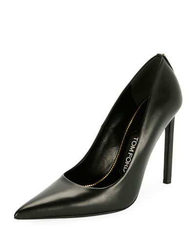 TOM FORD Pointed-Toe 105mm Leather Pump