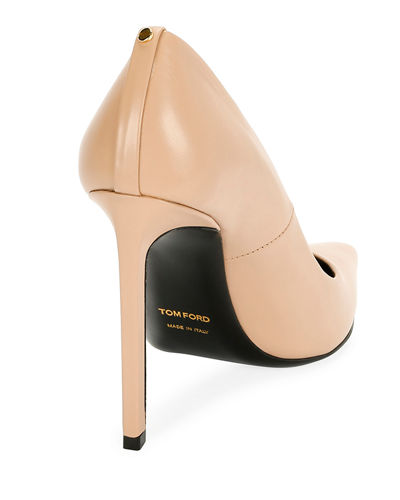 Pointed-Toe 105mm Leather Pump