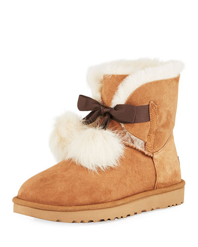 UGG Gita Mini Pompom Boot